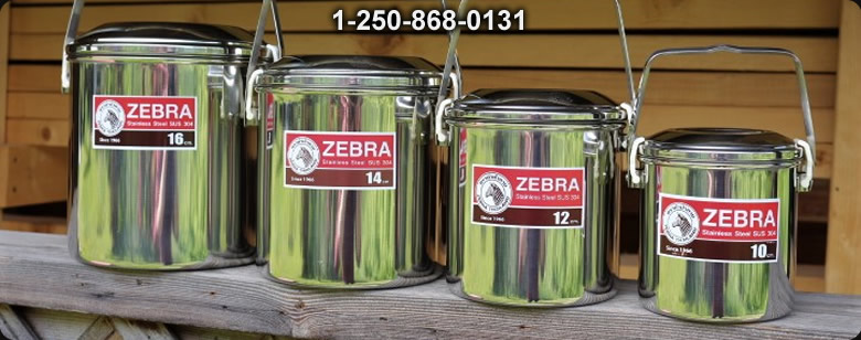 Zebra 4 in 1 storage Bowls - Bushcraft Canada