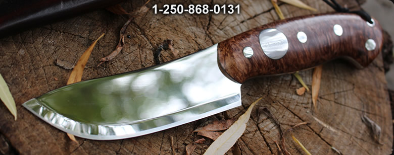 Cosmo 4.25in S35VN Skinner Maple Burl - Bushcraft Canada