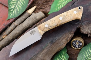 Barkriver Knives A2 TUSK Natural Elder Burl