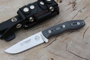 Cudeman BS-9 Bushcraft Knife Kit Black Micarta