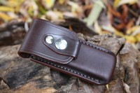 Leather case for Larger folding knife