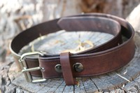 Canadian Bushcraft leather belt