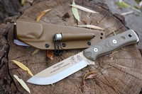 TOPS BOB Bushcraft Knife Desert Tan