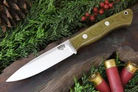 Barkriver Knives Aurora Green Canvas Micarta Red Liner