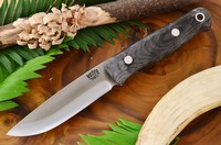 Barkriver Knives Bushcrafter 2 Black Canvas Matte