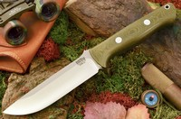 Barkriver knives Bravo 1.25 LT Green Canvas Micarta Ramped