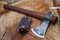 H and B Forge Camp Hawk With Leather Edge Cover Photo