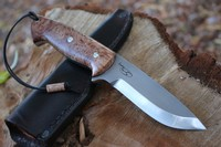 Cosmo Bushcraft Maple Burl S35VN Wide Paw