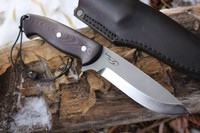 Cosmo Bushcraft Black and Maroon G10 S35VN Wide Paw