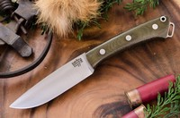 Barkriver Fox River A2 Green Canvas Micarta