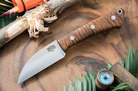 Barkriver Knives A2 TUSK Curly koa with Mosaic pins