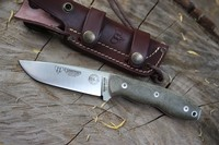Cudeman BS-9 Green Micarta Plain Sheath