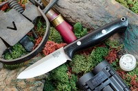 Barkriver Gunny A2 Black G10 Spear Point Rampless