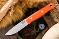 Barkriver Ultralite Bushcrafter Elmax Orange G10 Black liner Photo