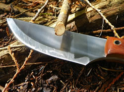 Chopping wood with the Highland Bushcraft Knife