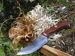 Feather Sticks with the Highland Bushcraft Knife